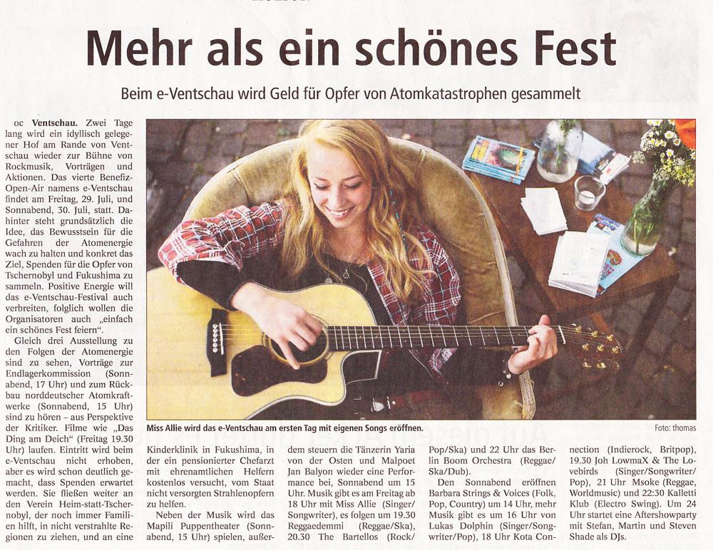 Landeszeitung, Sa 23.7.2016
