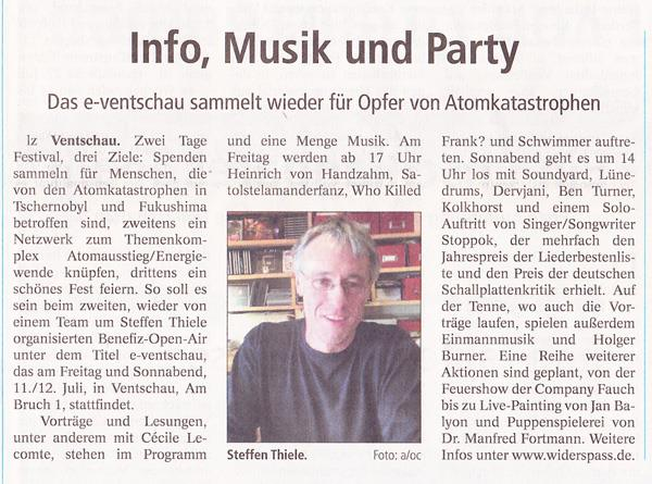 e-Ventschau Landeszeitung 05.07.14