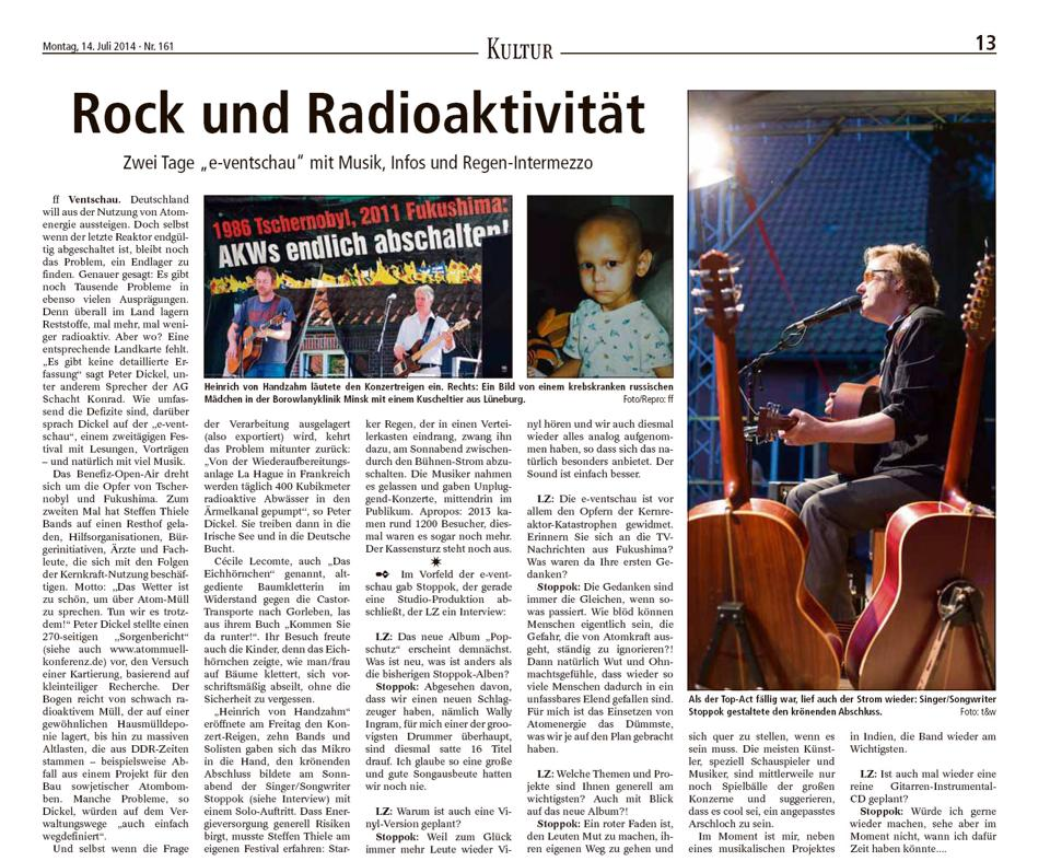 e-Ventschau Landeszeitung 14.07.14