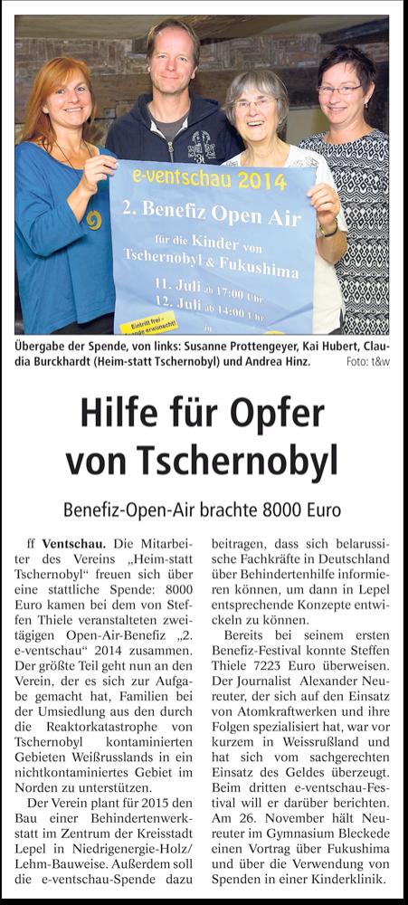 e-Ventschau Landeszeitung 07.2014