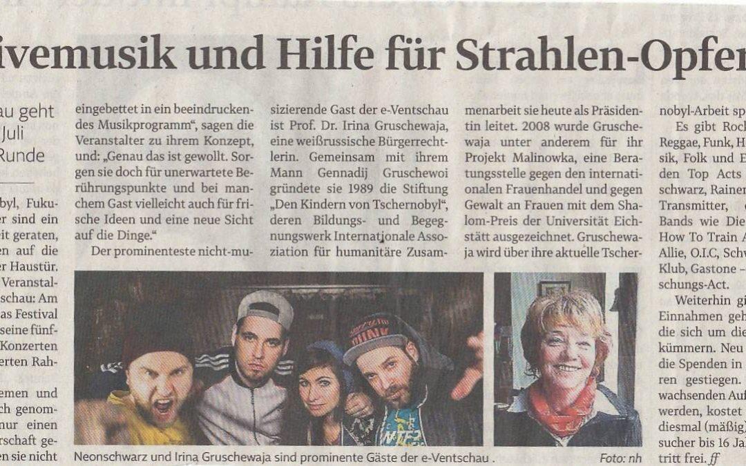 Ein schöne Ankündigung der Landeszeitung zum e-Ventschau 2017!